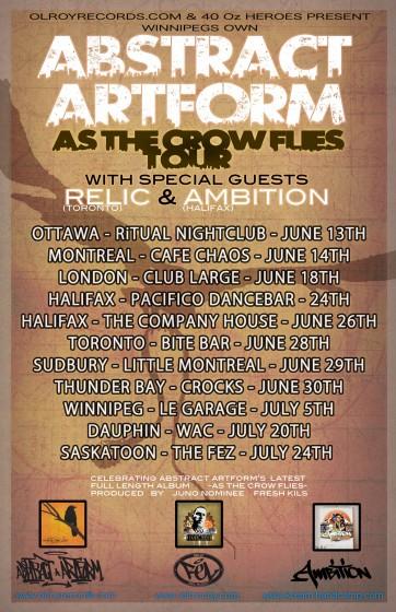 abstract artform tour dates