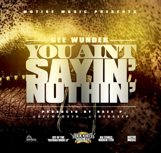 geewunder-youaintsayinnuthin-artwork